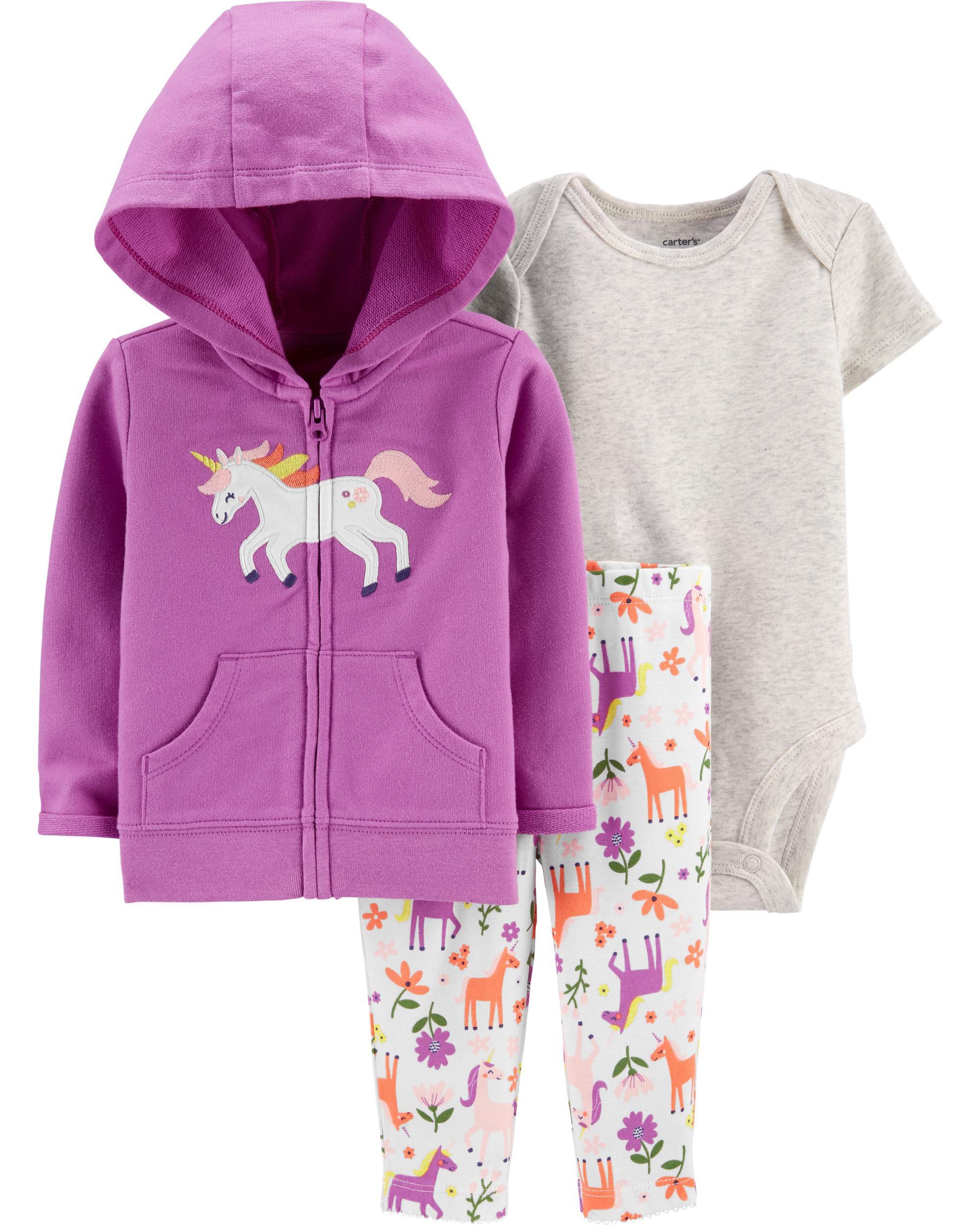 *CLEARANCE* 3-Piece Unicorn Little Jacket Set