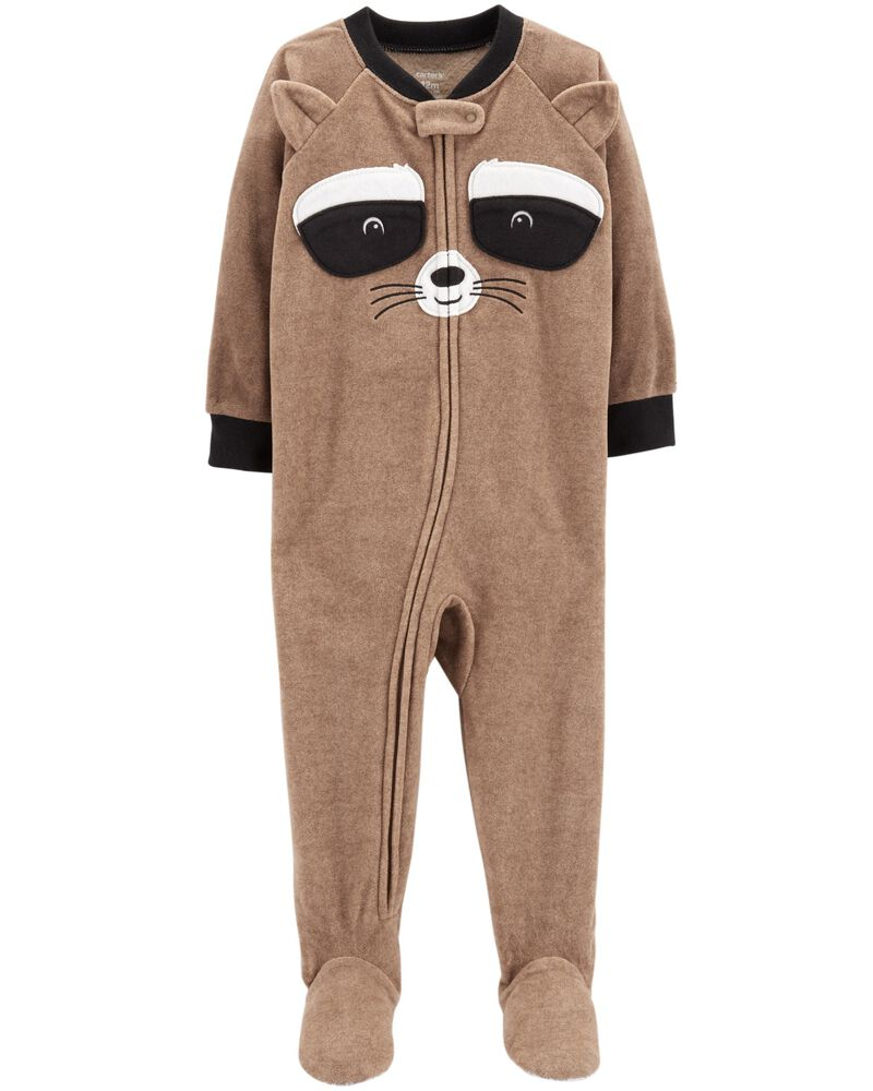 NWT Carters Boys Fleece Footed Pajamas PJs Racoon Tractor Dog 6M 12M 18M 24M 3T