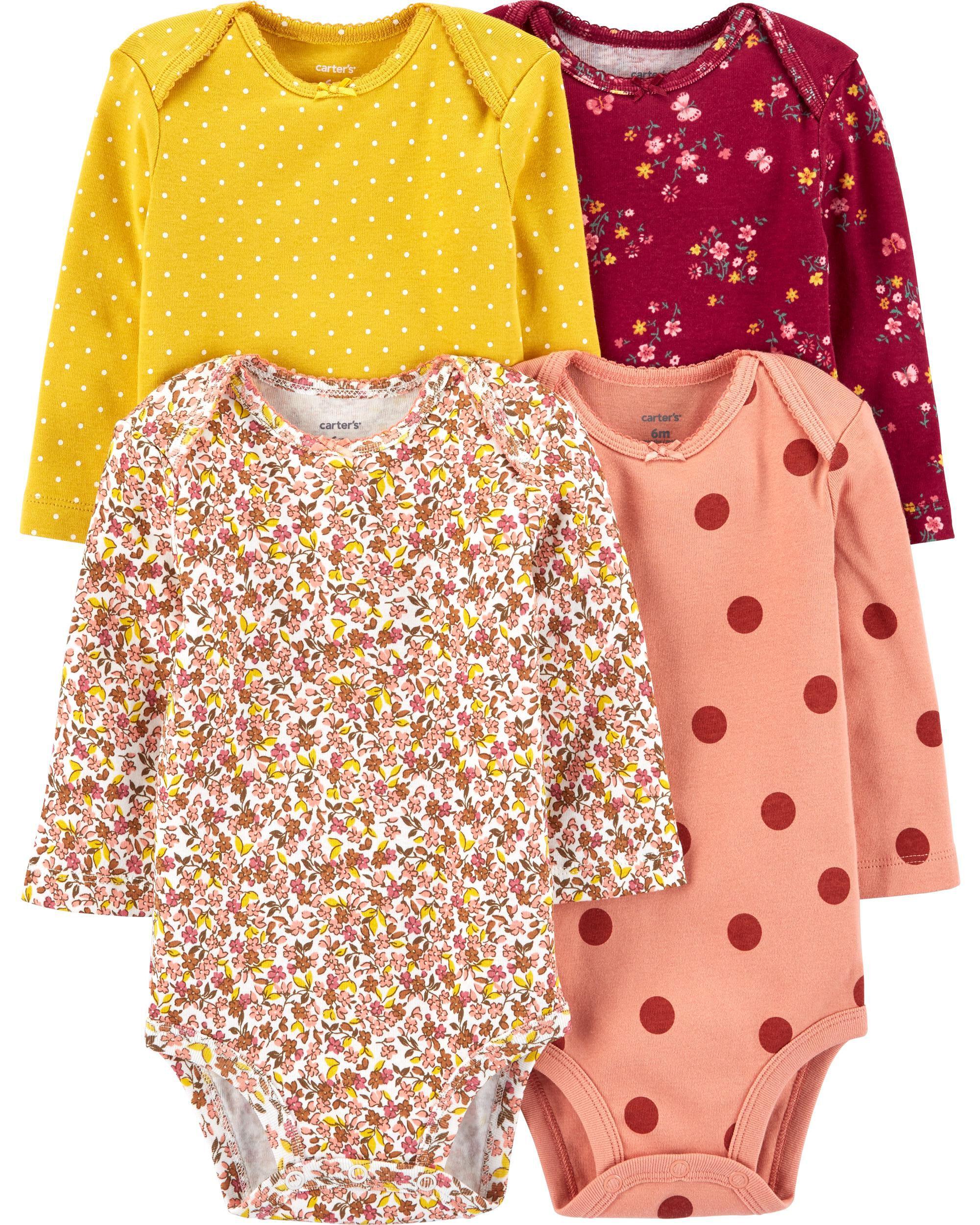 4-Pack Floral Original Bodysuits