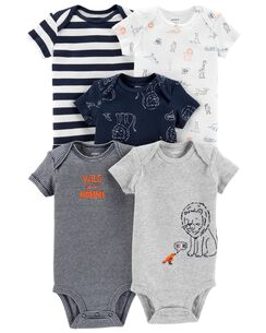 703de1d04ec2f 5-Pack Lion Original Bodysuits