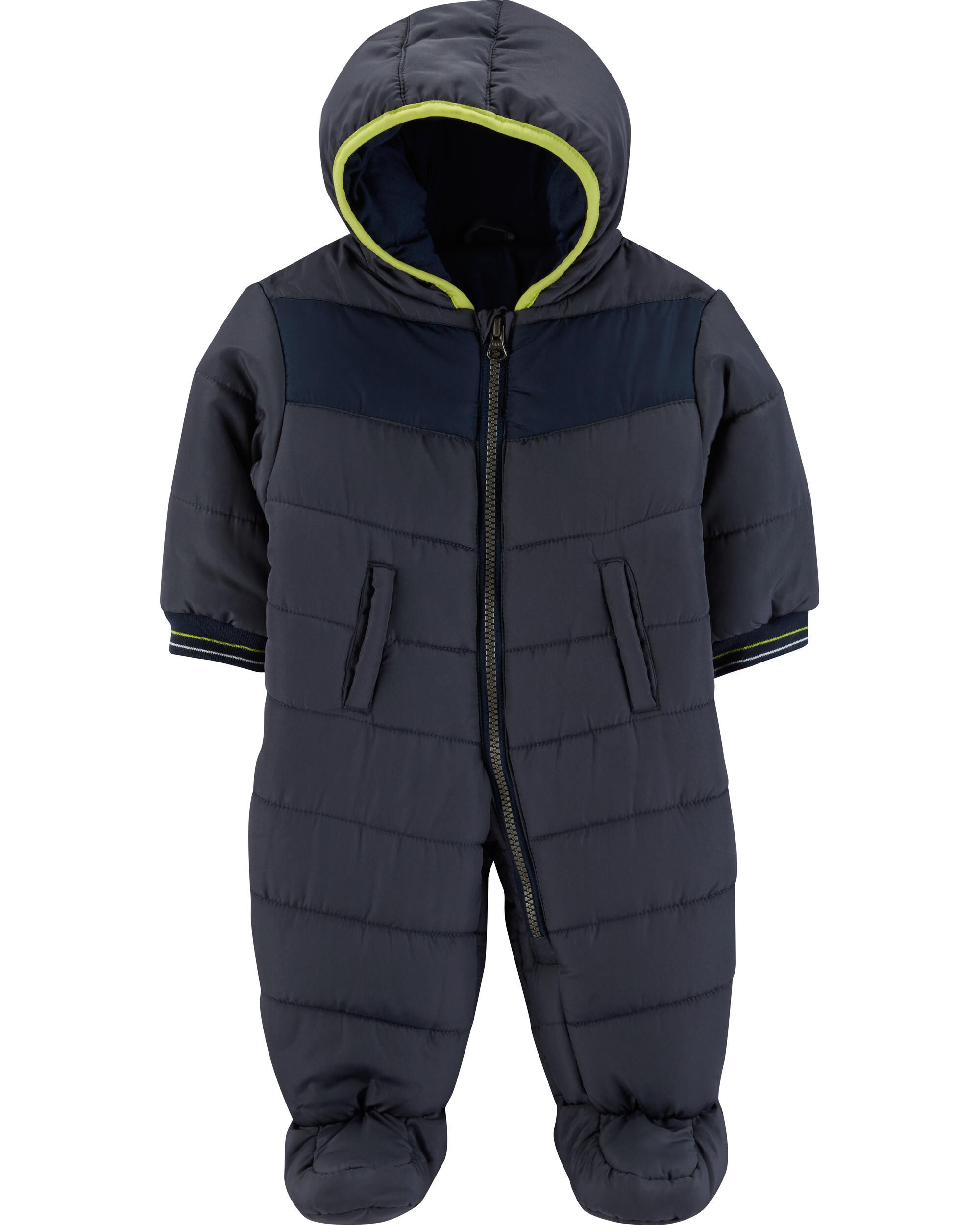 8fd94e4b6856 1-Piece Zip-Front Snowsuit