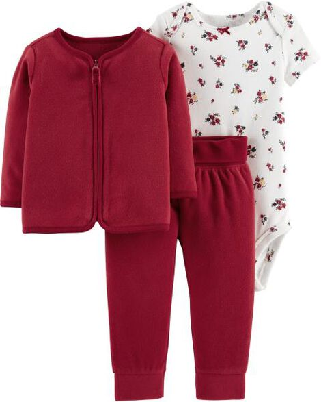 bdbf7c32f 3-Piece Fleece Cardigan Set