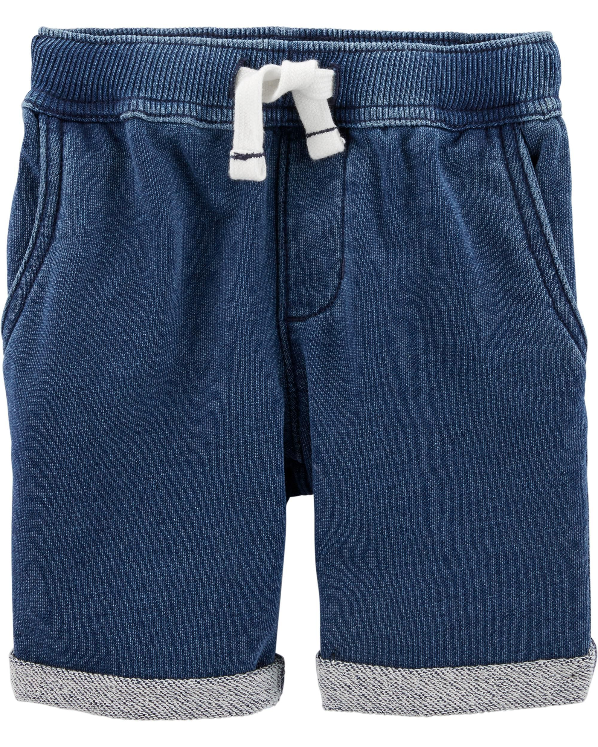 *CLEARANCE* Pull-On Knit Denim Shorts