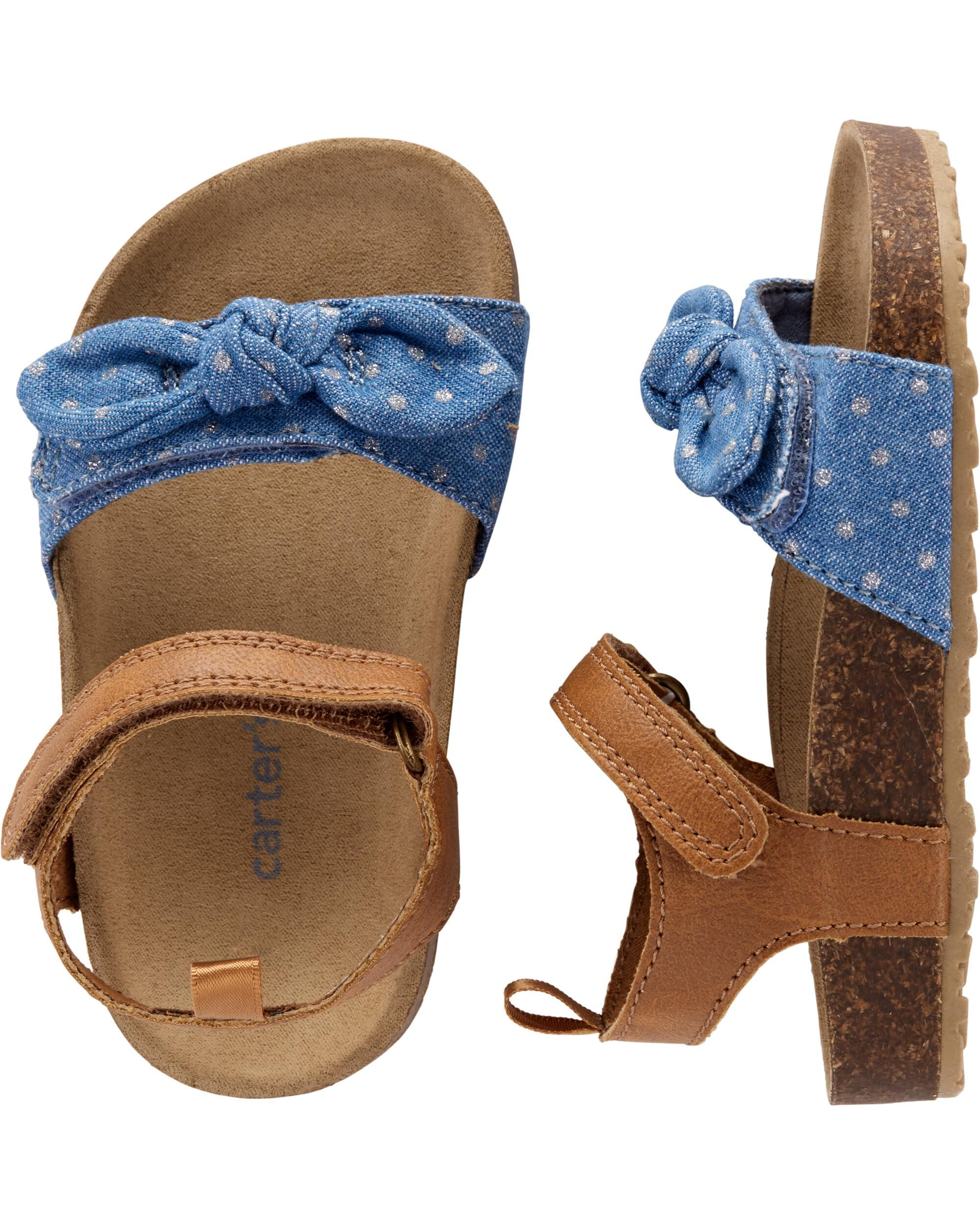 Chambray Cork Sandals | carters