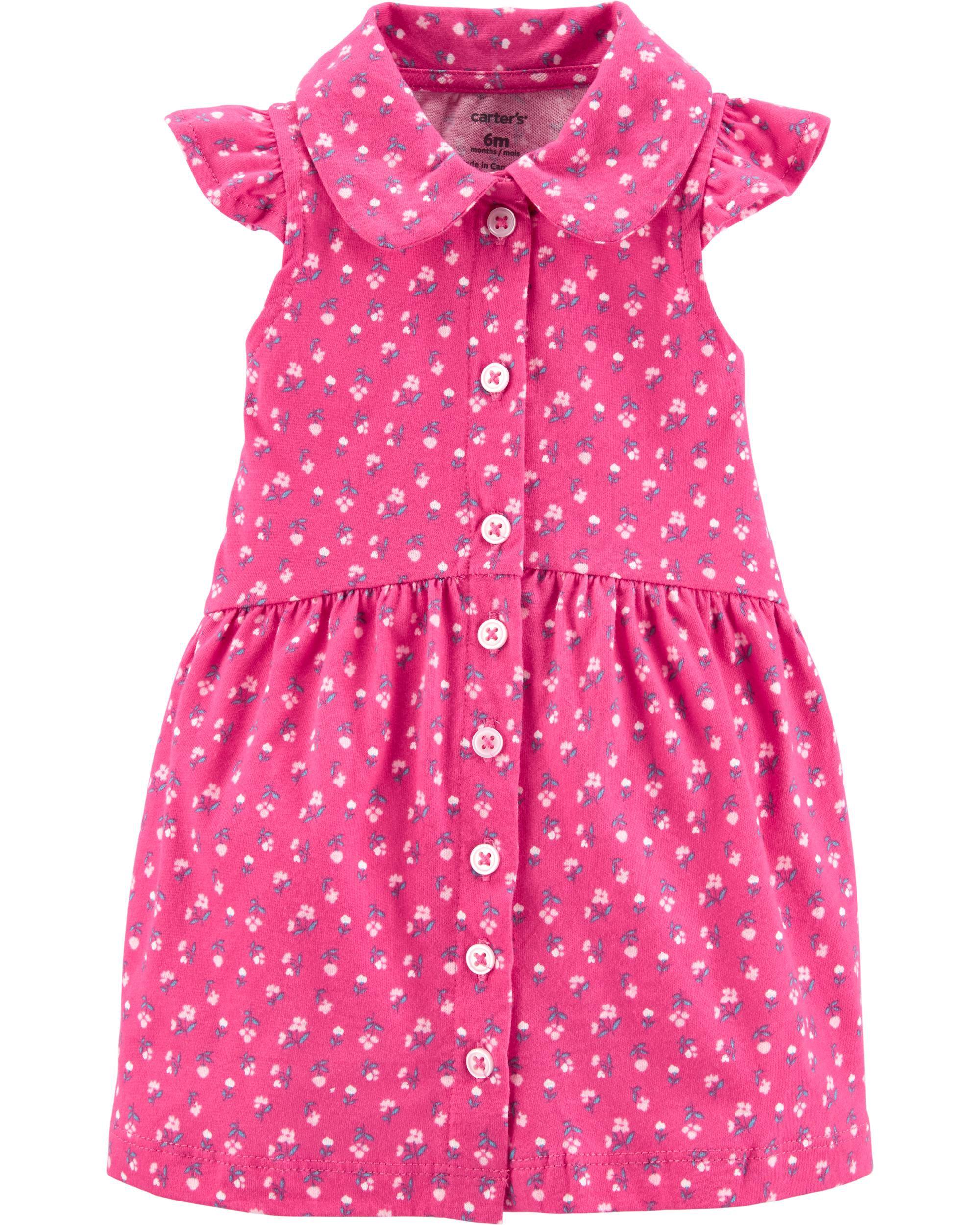 *DOORBUSTER* Floral Button-Front Shirt Dress