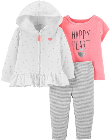 b901f3997711 3-Piece Heart Cardigan Set