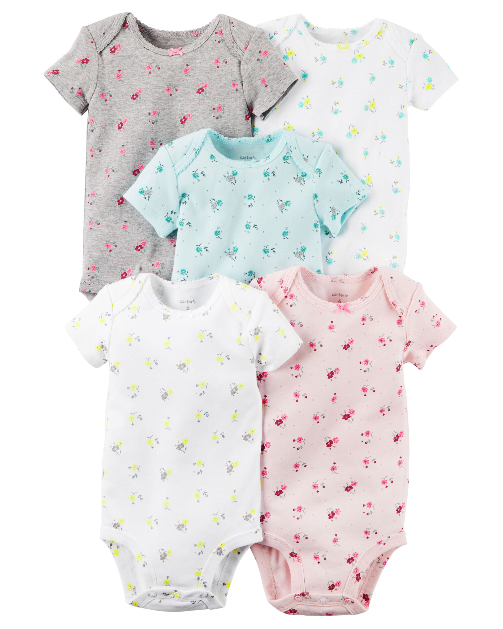 5-Pack Short-Sleeve Bodysuits | Carters.com
