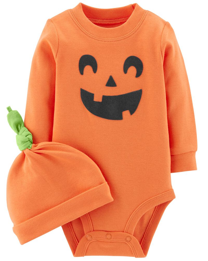 Gajaous Newborn Baby Halloween Outfits Set Infant Toddler Girls My 1st Halloween Pumpkin Bodysuit Pants Set Skirt Set Pumpkin Dress Baby Halloween Clothes