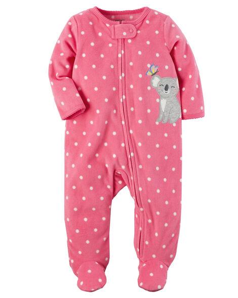 409d19f68 Koala Zip-Up Fleece Sleep   Play