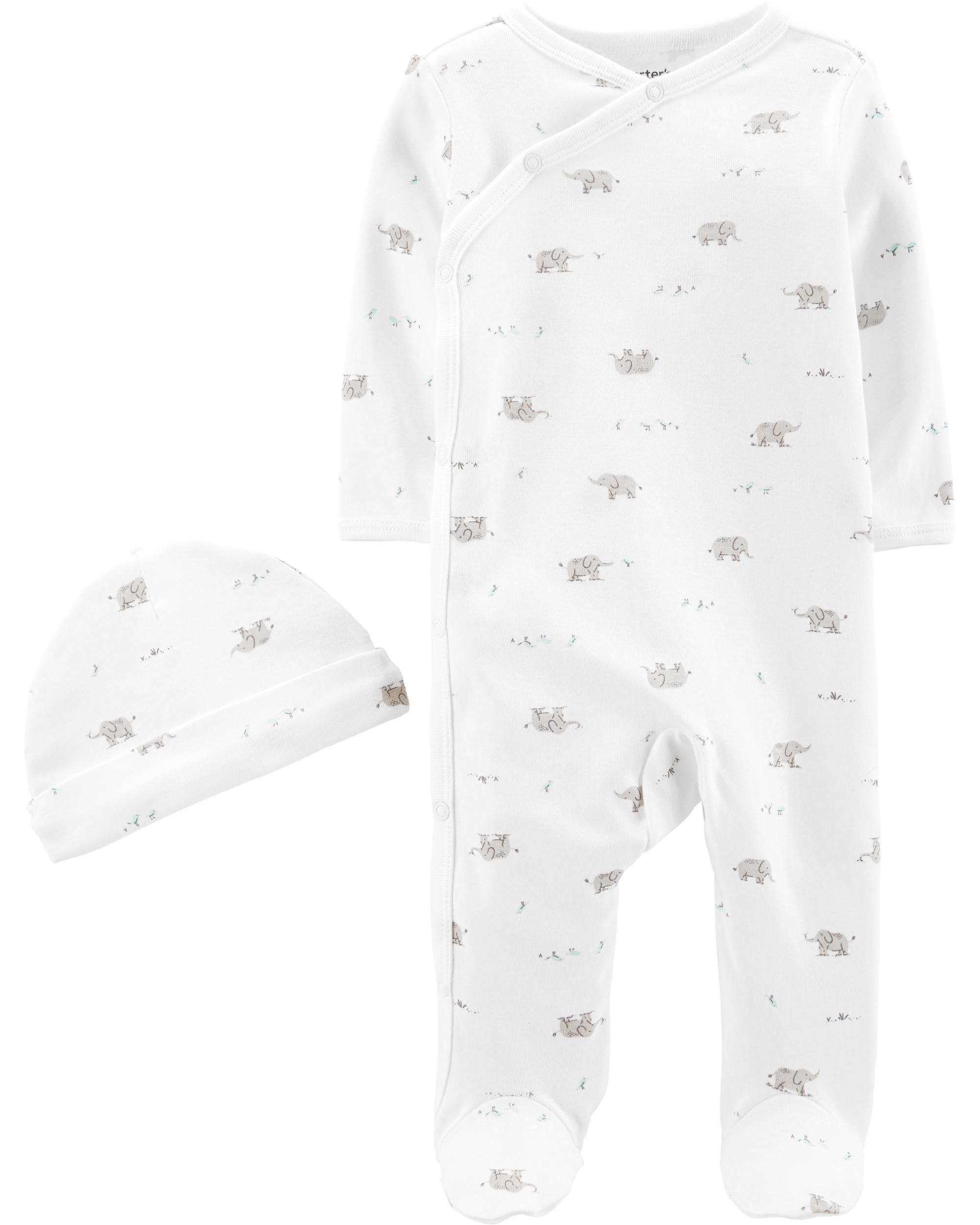 2-Piece Cap & Side-Snap Sleep & Play Set