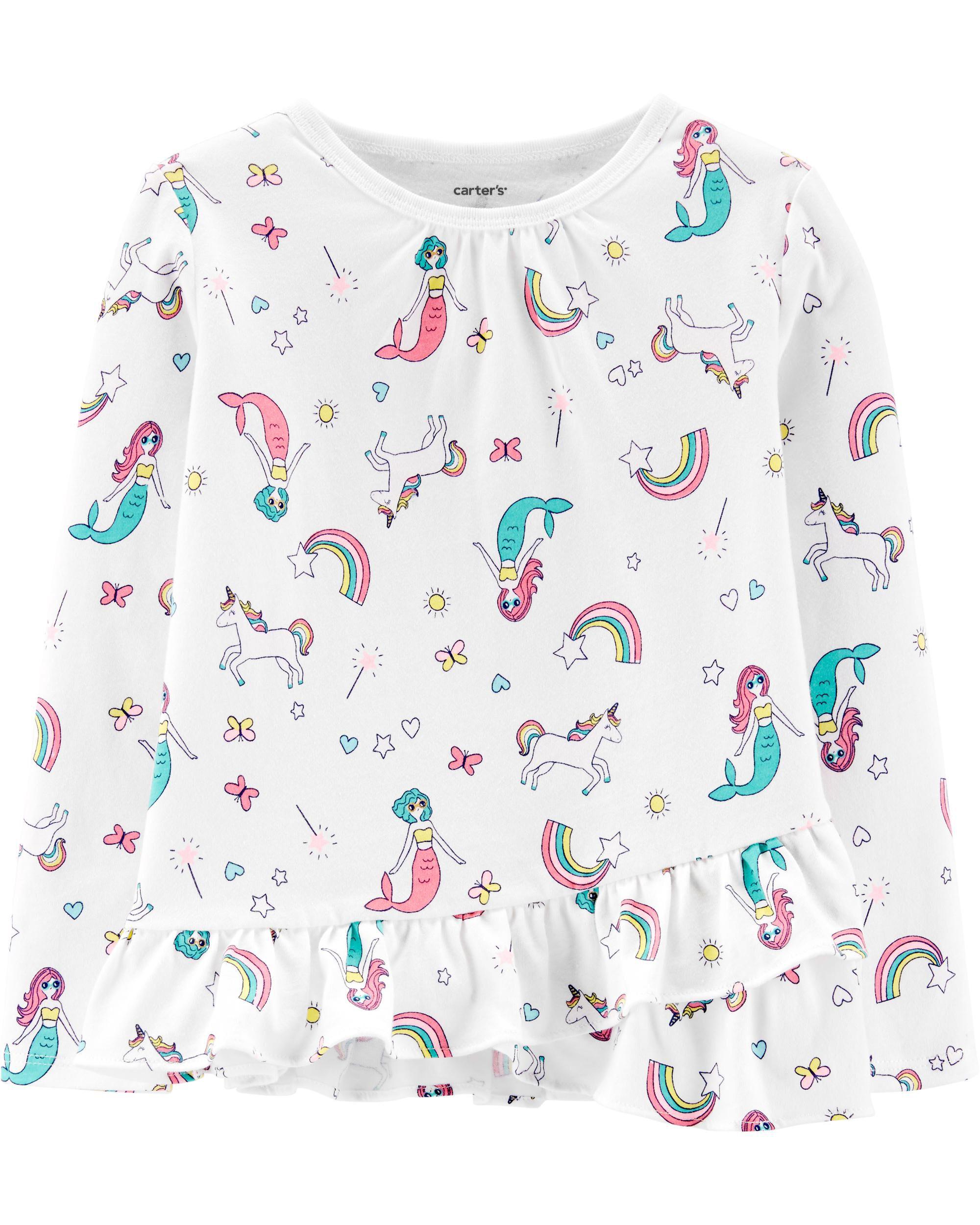 *CLEARANCE* Mermaids & Unicorns Ruffle Jersey Tee