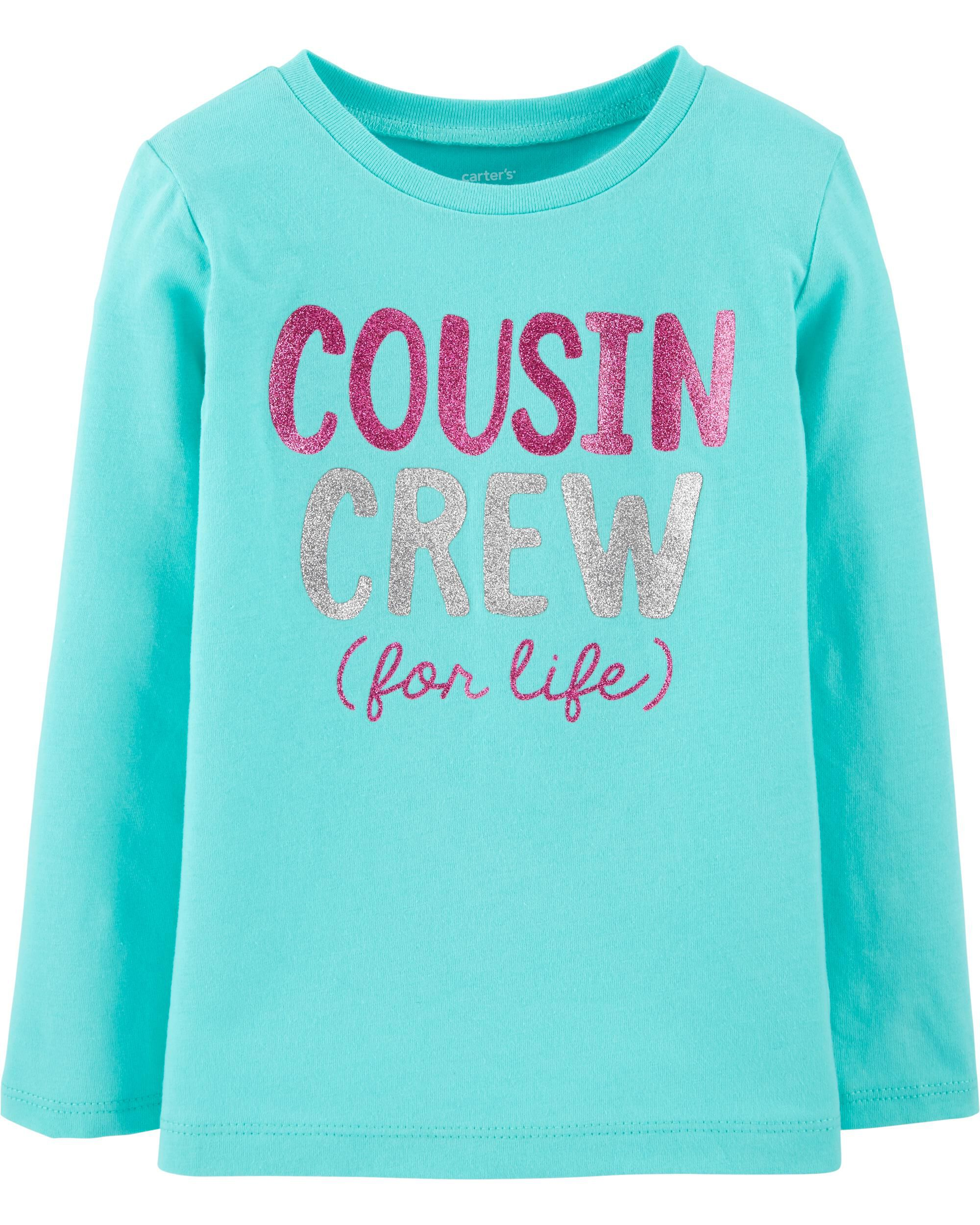 *CLEARANCE* Glitter Cousin Crew For Life Jersey Tee
