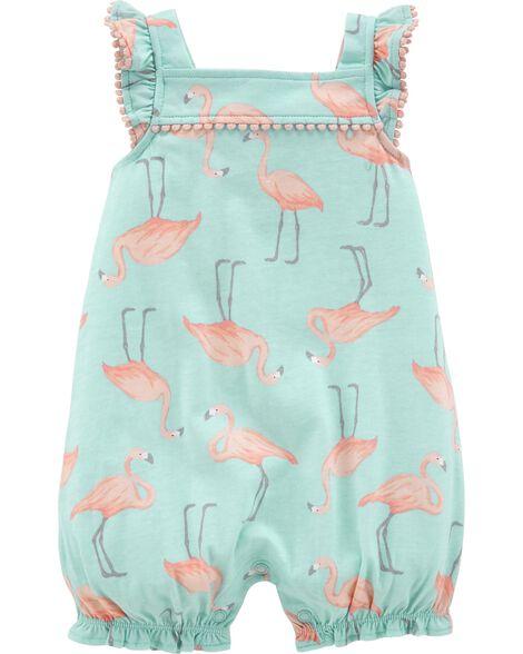 Flamingo Jersey Romper