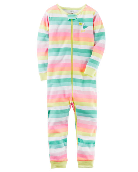 835c59de8 1-Piece Snug Fit Neon Cotton Footless PJs