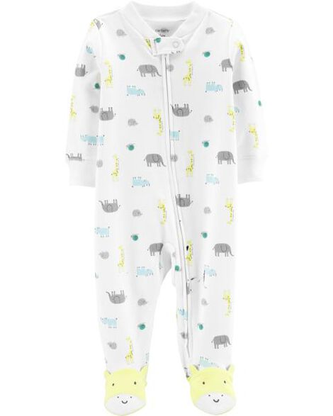 Animal Zip-Up Cotton Sleep & Play
