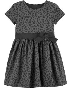 cheetah sateen holiday dress - Girl Christmas Dresses