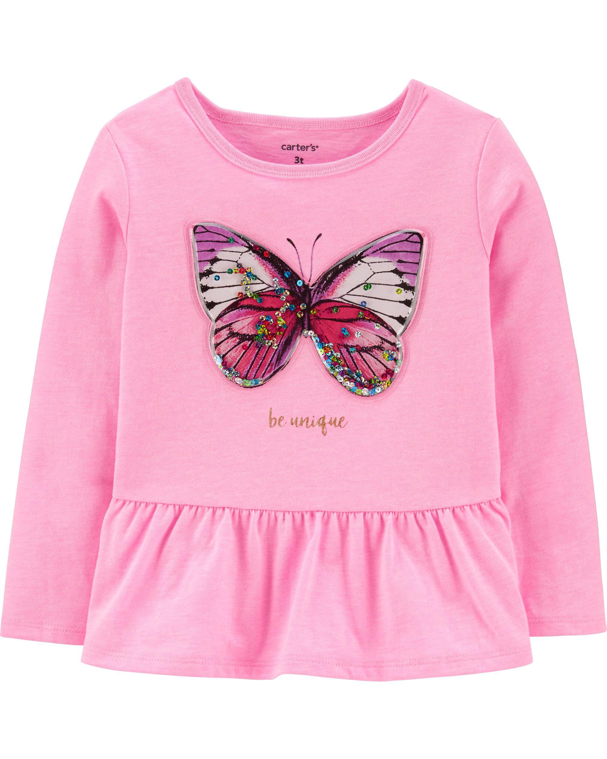 *CLEARANCE* Neon Interactive Butterfly Peplum Top