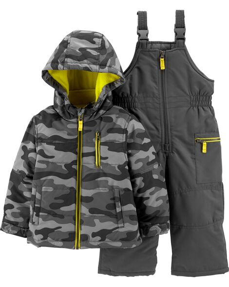 36210cbb2 2-Piece Camo Snowsuit Set