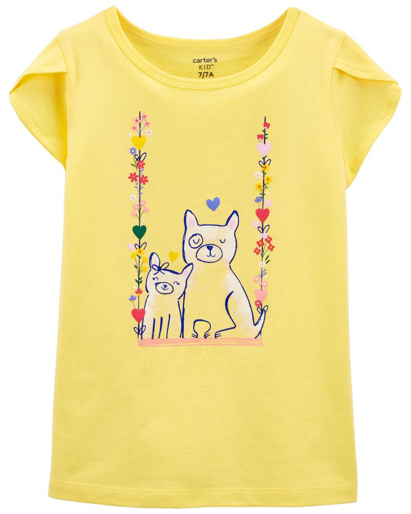 3 Colors Puppy Shirt Dog Tee and Youth Sizes Comic Baby Cartoon Kids 4Eye Dog T-shirt Toddler