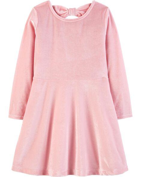 cf79ce1a013e Stretch Velour Bow Dress
