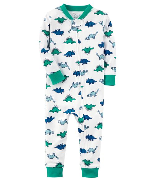 3450e6bc2 1-Piece Certified Organic Snug Fit Cotton Footless PJs