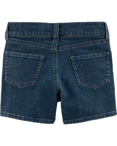 Rhinestone 5-Pocket Denim Shorts
