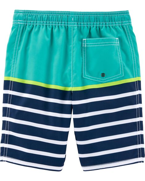 Carter's Striped Swim Trunks