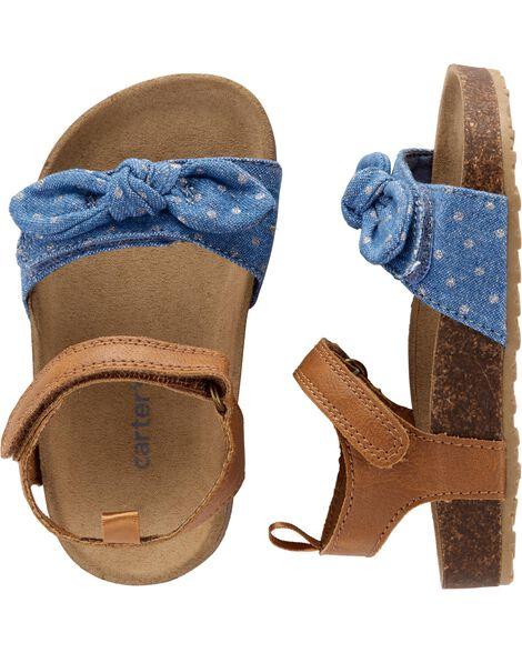 0a3a26788e4 Carter s Chambray Cork Sandals ...