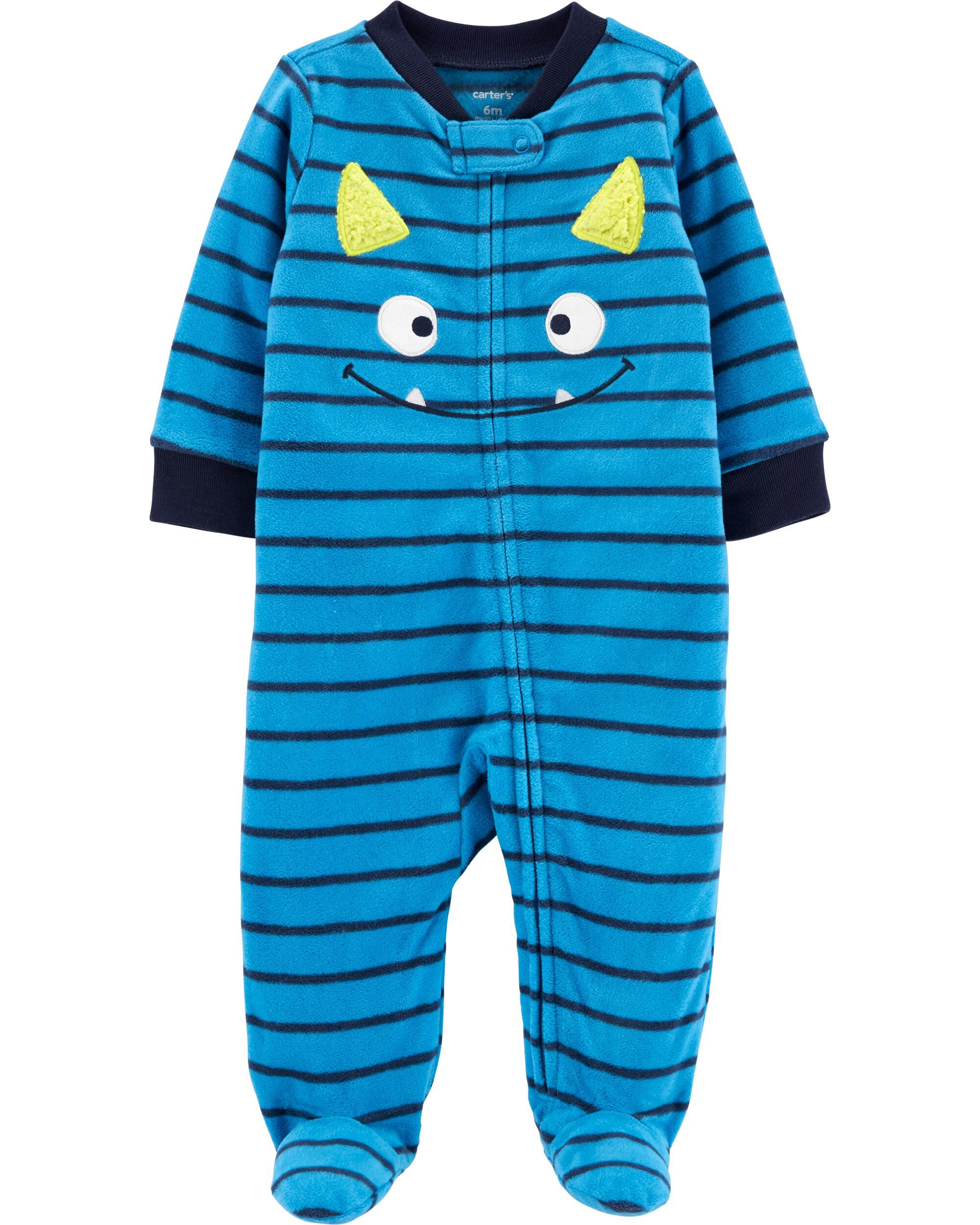 *CLEARANCE* Monster Zip-Up Fleece Sleep & Play