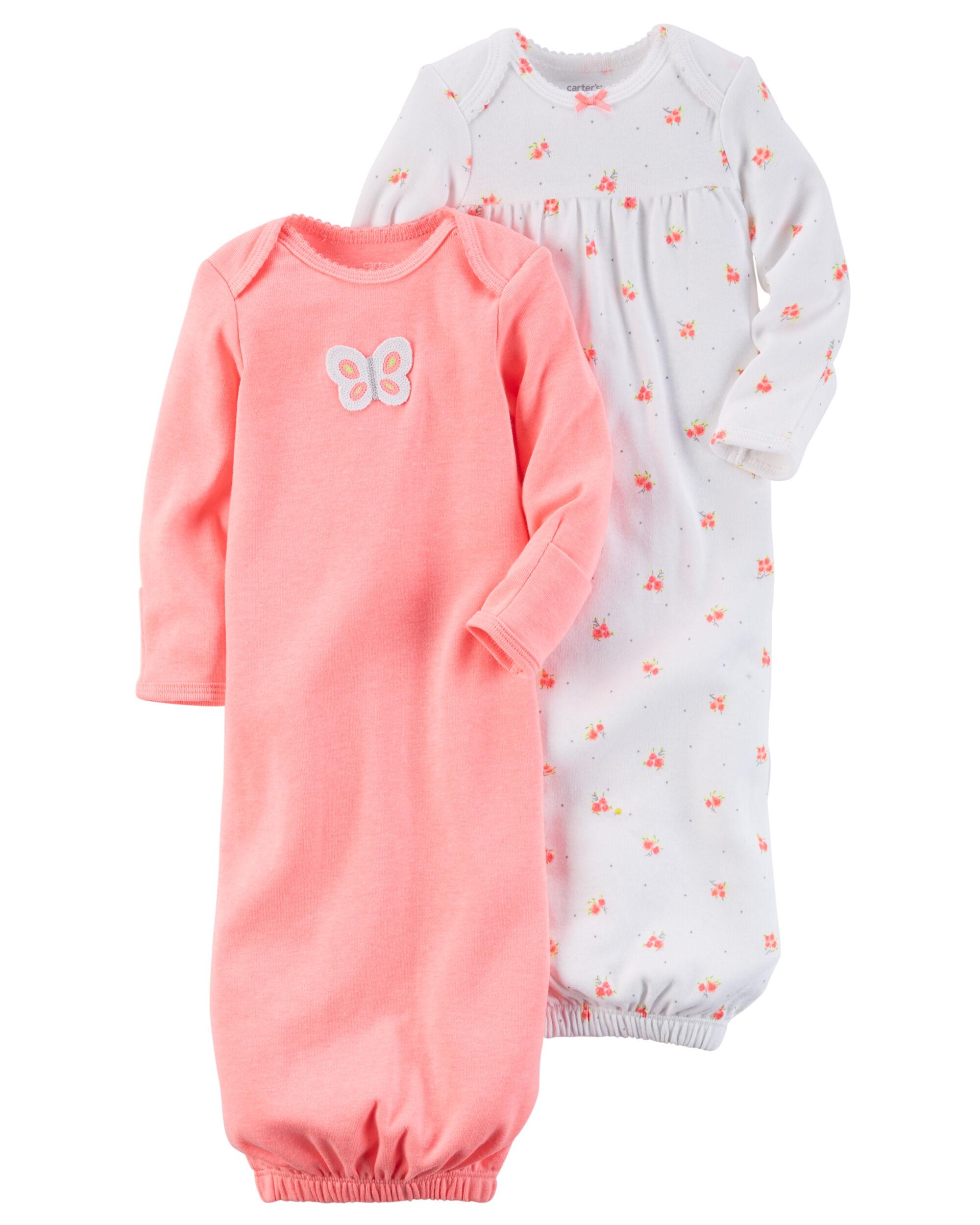 2-Pack Babysoft Neon Sleeper Gowns | Carters.com