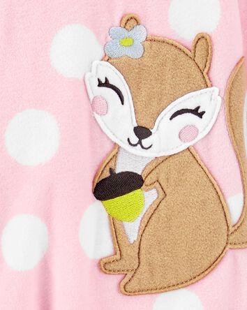 1-Piece Squirrel Fleece Footie PJs