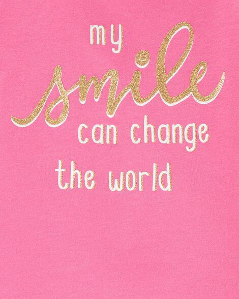 Glitter Smile Jersey Tee