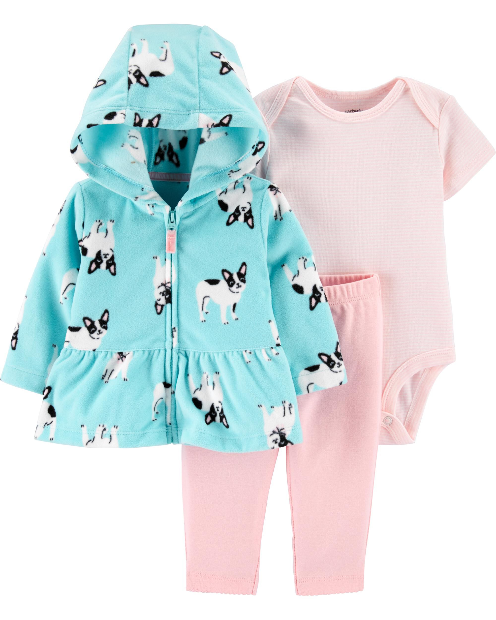 Set Frenchie Clothes Outfit *NEW* 2T Baby Toddler Girls French Bulldog 2-pc