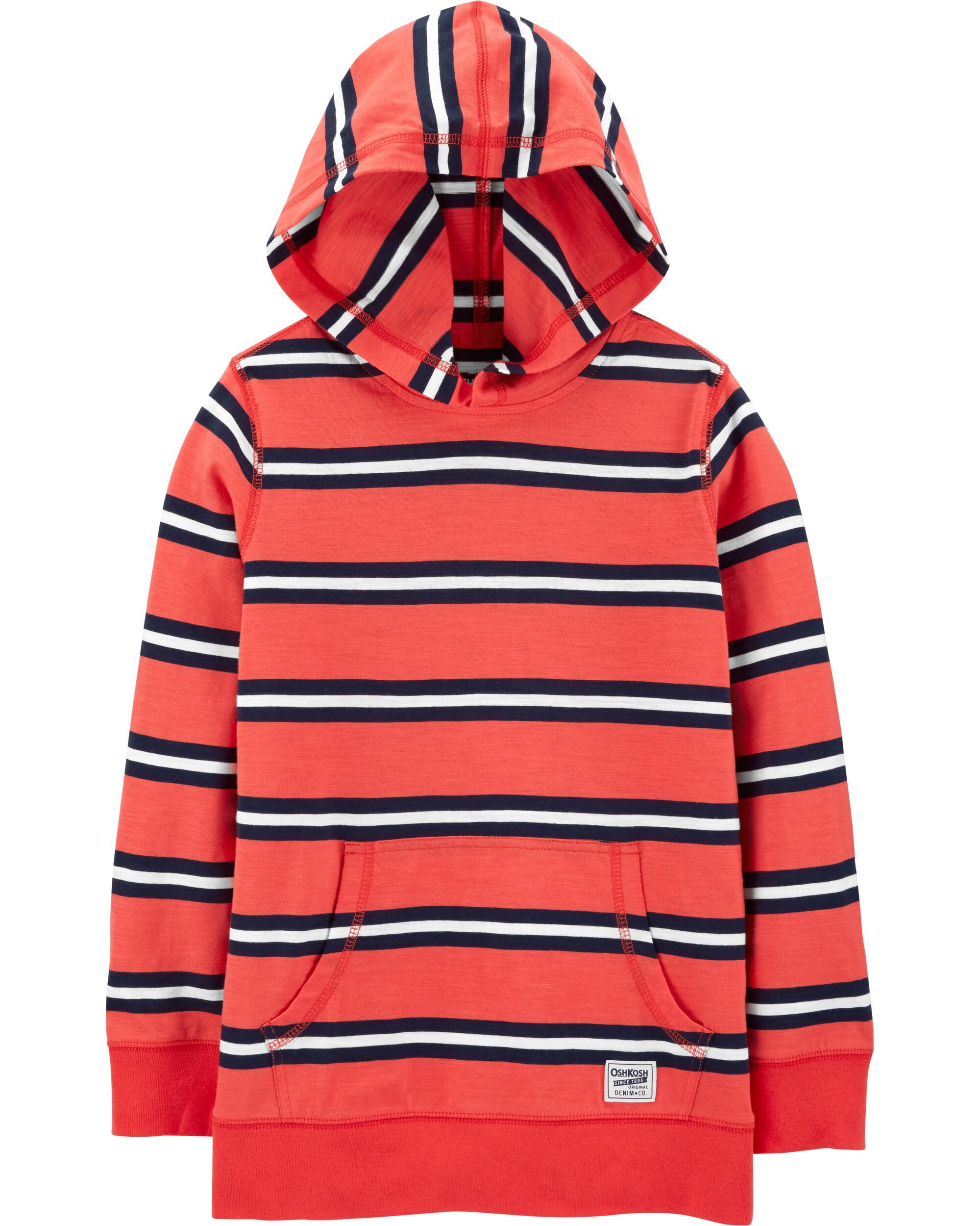 *CLEARANCE* Hooded Striped Pullover
