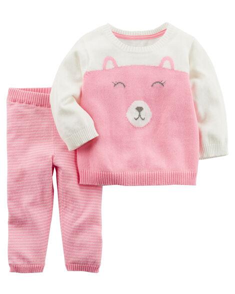 13084e3e9840 2-Piece Little Sweater Set