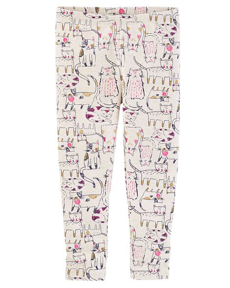 6eb366b578174 Baby Girl Mix Kit Cat Print Leggings | OshKosh.com