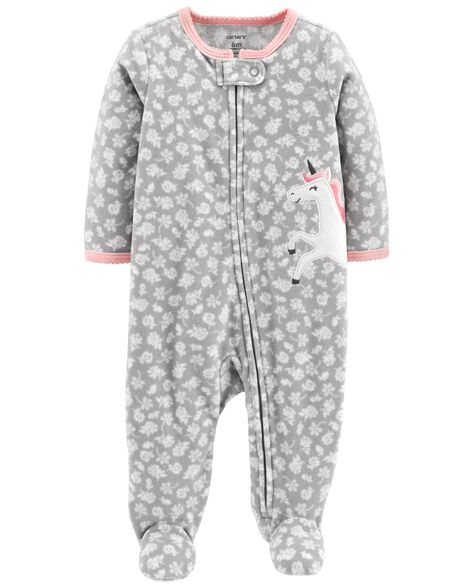 Unicorn Zip-Up Fleece Sleep   Play  47ed792ef