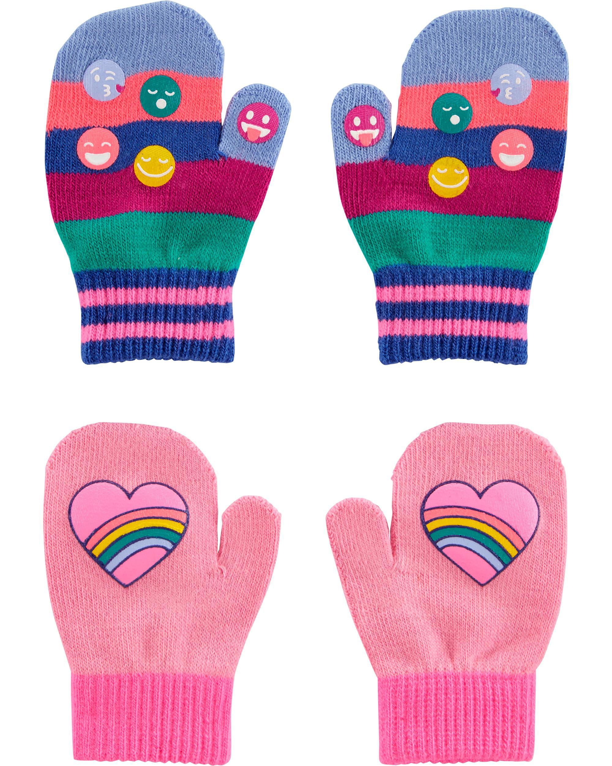 *DOORBUSTER* 2-Pack Rainbow Mittens