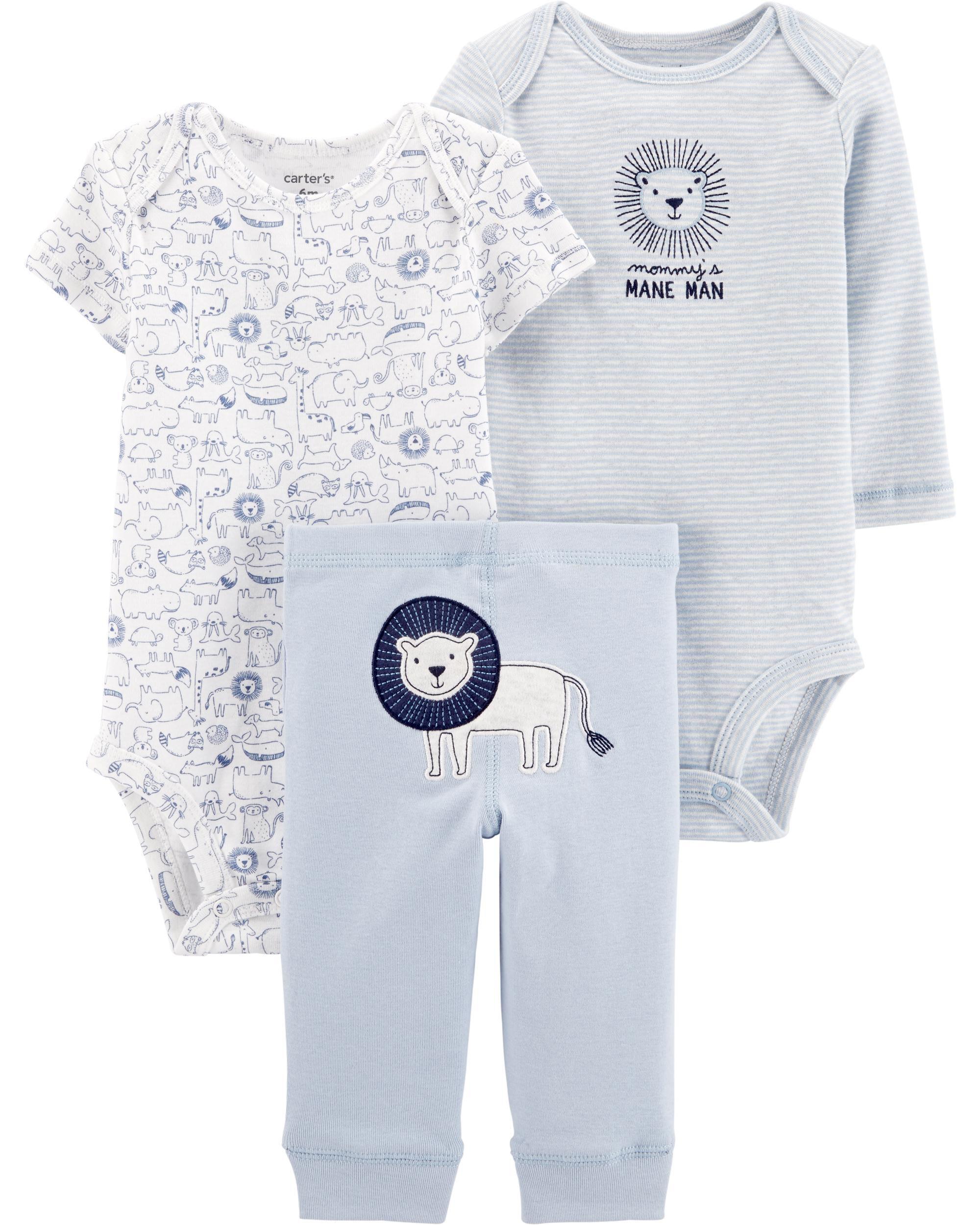 NEW Carter/'s Baby Boys/' 3 Piece Paw Print Little Jacket Set Various Sizes