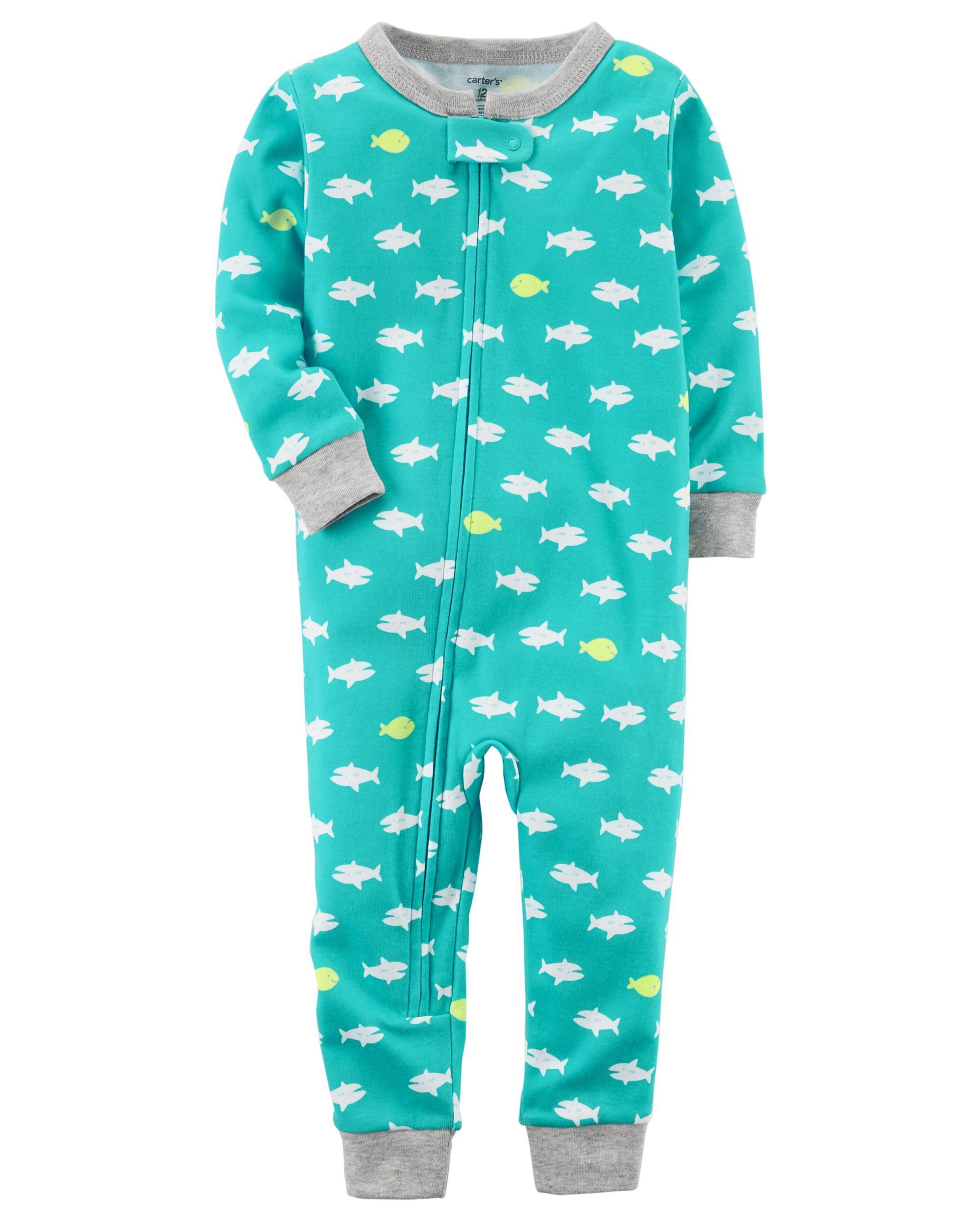 toddler boy pajamas sleepwear carter s shipping 1 piece neon snug fit cotton footless pjs