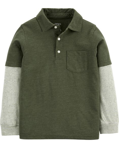 Layered-Look Polo Shirt