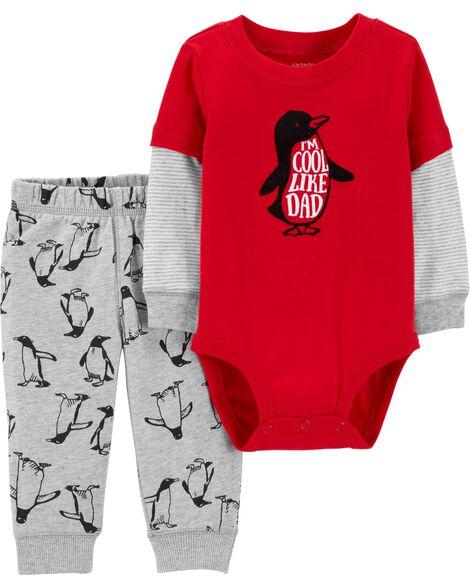 2-Piece Penguin Bodysuit Pant Set