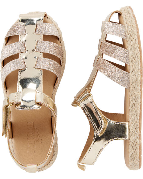 44f0d6f0de622f OshKosh Gold Glitter Sandals ...