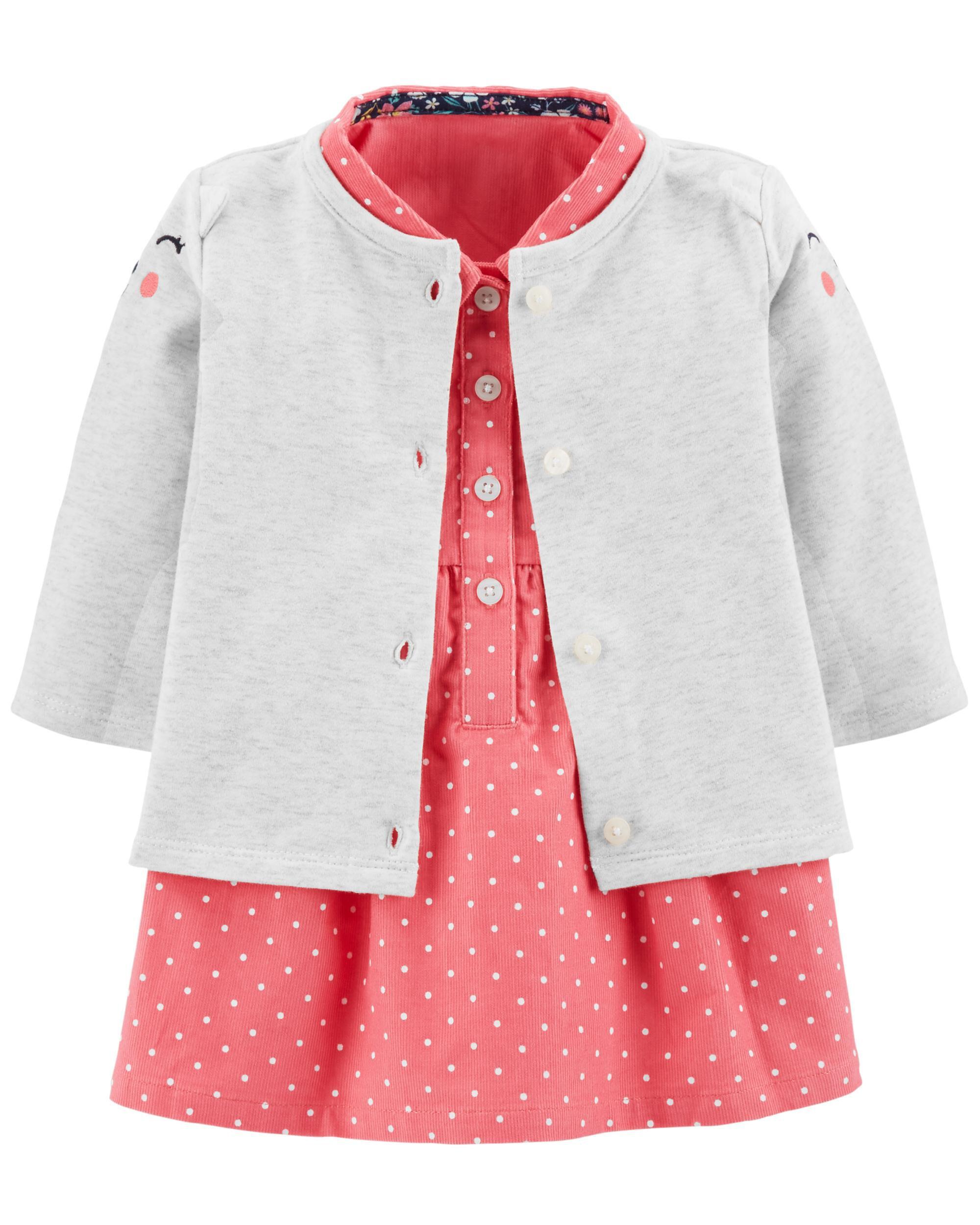1636e1081cc 2-Piece Dress   Cardigan Set