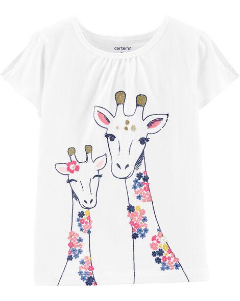 c60aba96 Giraffe Split Shoulder Tee | Carters.com