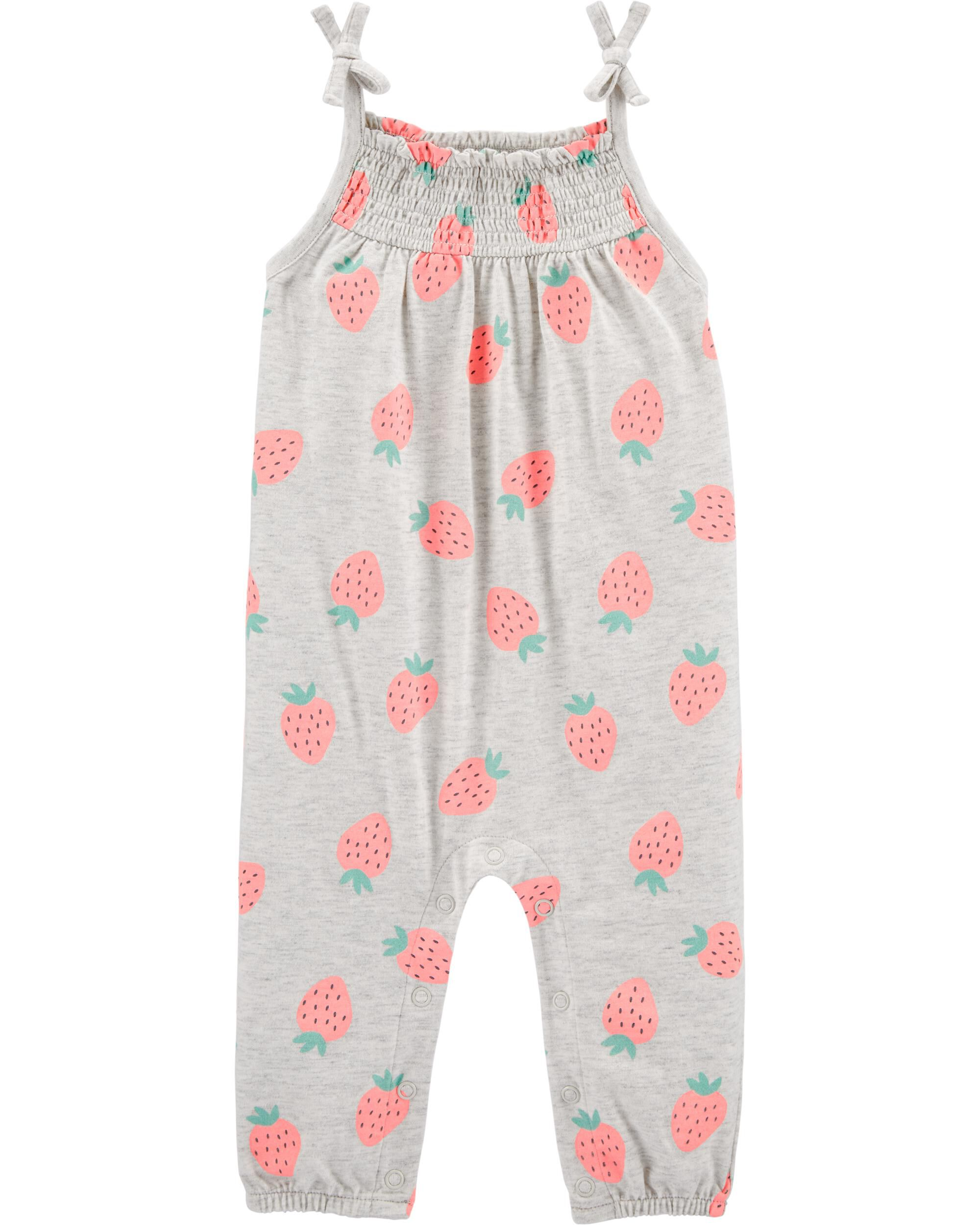 Carters Baby Girls Floral Butterfly Romper 12 Months White Multi