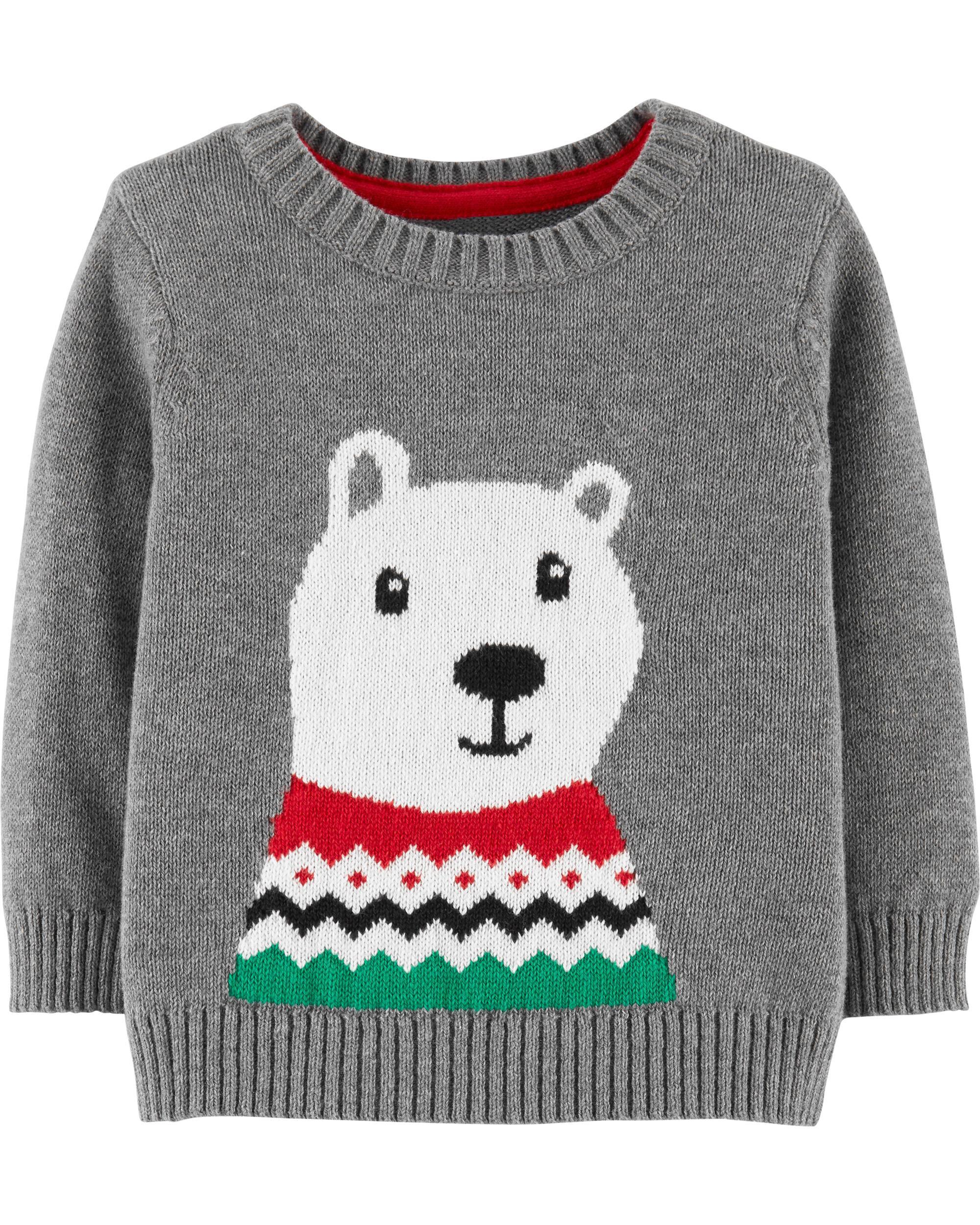 b2b7a088d752 Christmas Polar Bear Pullover