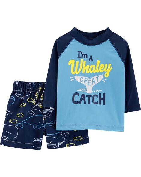 336020994 Carter's Whale Rashguard Set | Carters.com
