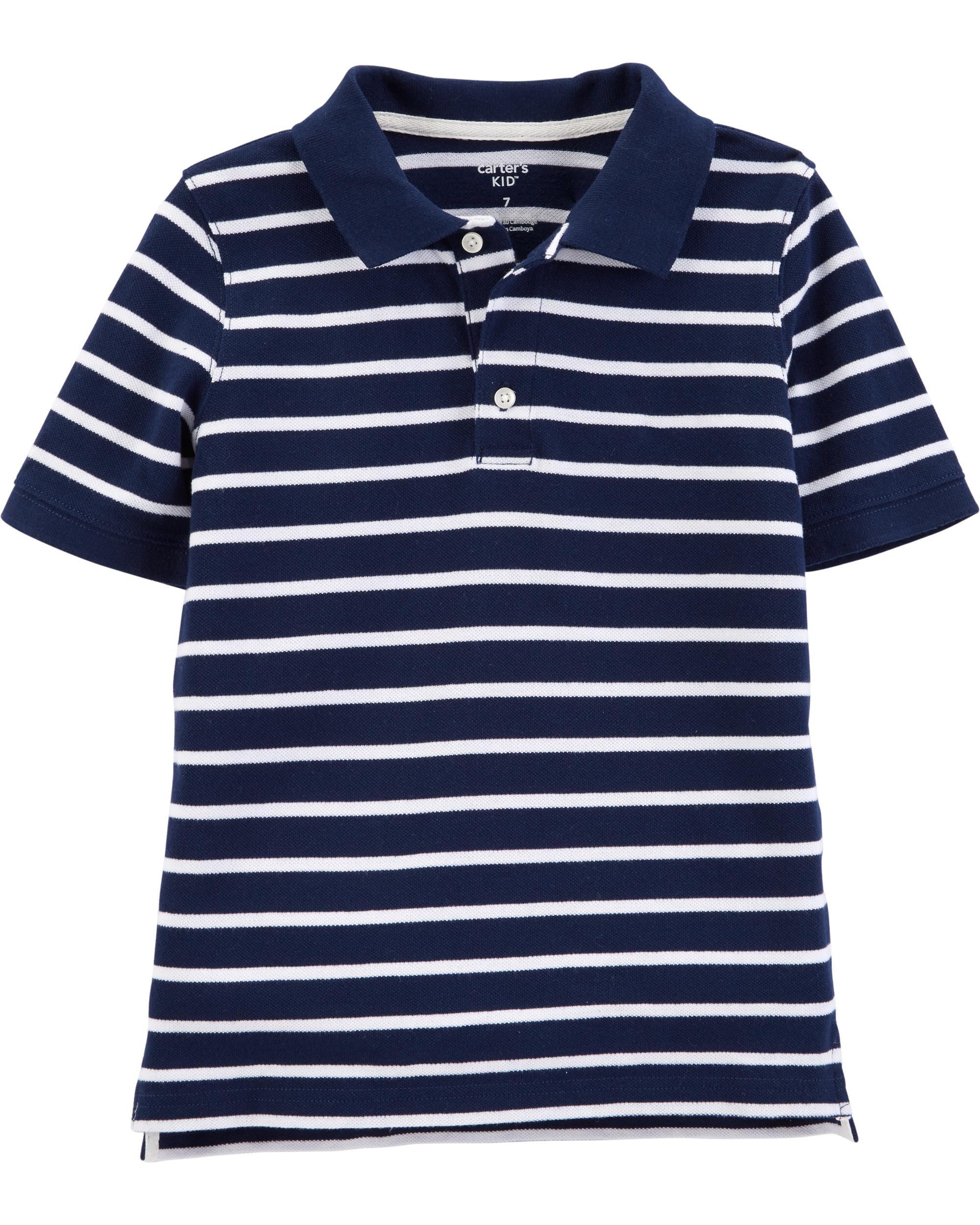 *DOORBUSTER* Striped Piqué Polo
