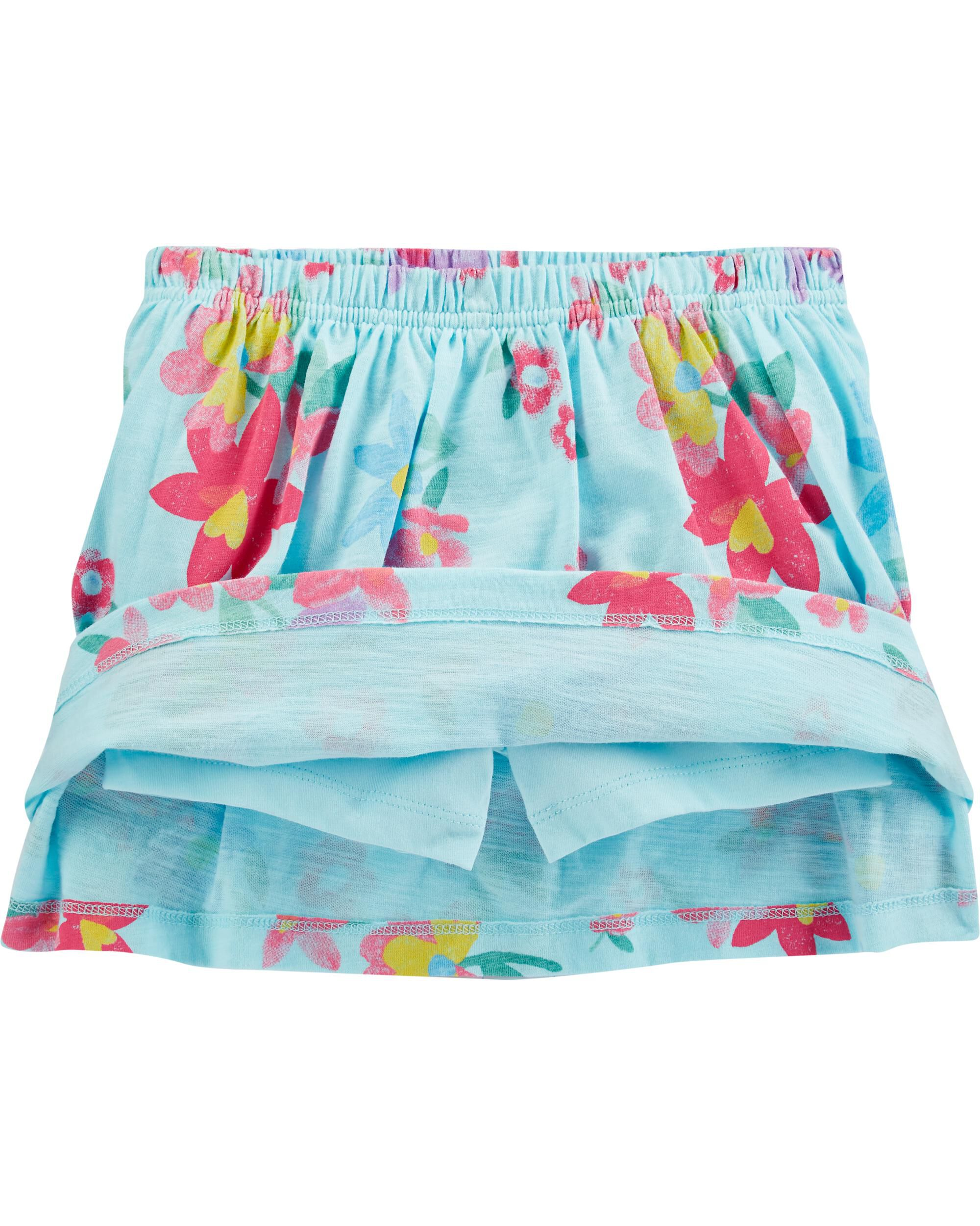 NWT CARTER/'S GIRL SIZE 4 SKORT 2 PIECE SKIRT AND SHORTS BRAND NEW TEAL GREEN